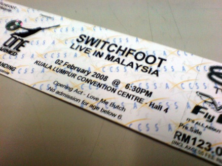 switchfoot ticket